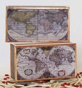 Image of Old World Map Matchbox