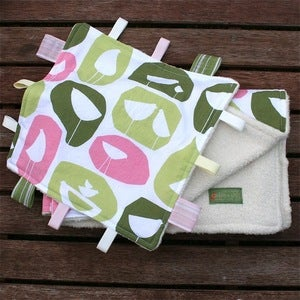 Image of ORGANIC Monaco Birds Blanket &amp; Blankie Set
