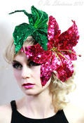 Image of Sequinned Lily Fascinator-more colours