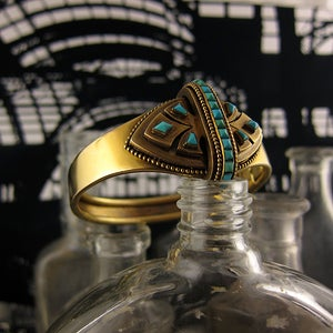 Image of Victorian Gold & Turquoise Bangle
