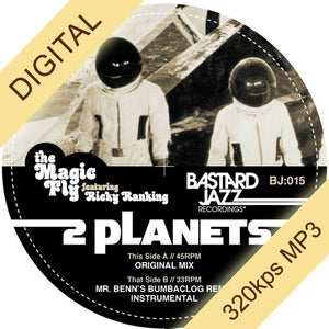Image of The Magic Fly feat. Ricky Ranking - Two Planets 12&quot; (DIGITAL)