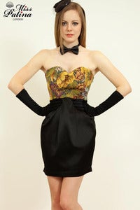 Image of Miss Patina Vintage Brocade Cocktail Dress (Black bottom)
