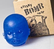 Image of Blue Baby Doll Head Soap