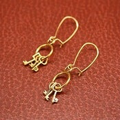 Image of Golden Keyring earrings