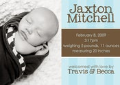 Image of Bluesy Stripes Birth Announcement