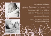 Image of Sweet Swirls Birth Announcement