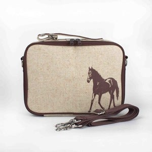 Image of So Young Mother Lunch Box - Brown Horse