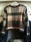 Image of Plaid Fuzzy Sweater