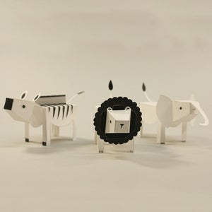 Image of Paper animals: LION ZEBRA ELEPHANT (Limited Edition)