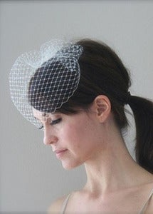 Image of Simple Bridal Birdcage Veil