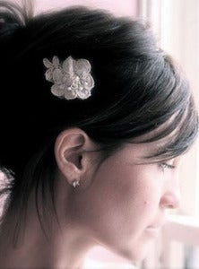 Image of Lacey and Posey - Vintage Alencon Lace Bridal Hair Pins