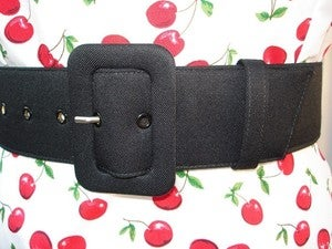 Image of The Perfect Black Belt - made to your waist measurement