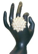 Image of Pearl Cluster Statement Ring *handmade*