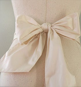 Image of Simple Silk Bridal Sash