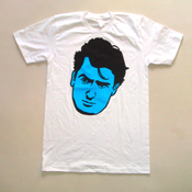 "Image of Charlie Sheen ""Blue & Striped"" White + FREE digital EP"