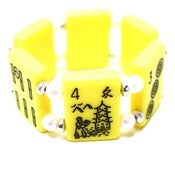 Image of Yellow Mahjong Bracelet 