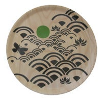 Image of Birchwood round tray {The Garden}