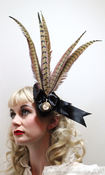 Image of Evangeline Pheasant Feather Fascinator