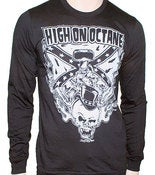 Image of Men's High on Octane Rebel Skull Long Sleeve Shirt
