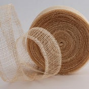 "Image of Manila Mesh Ribbon/Natural, 1.5"" wide, per 5 yards"