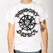 Image of SENSORY DEFECT (STAR LOGO) WHITE SHIRT