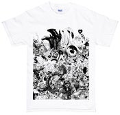 Image of Emer 777 t-shirt black print on white