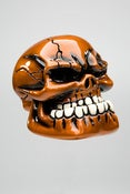 Image of Punchy Skull - Metallic Pumpkin Orange