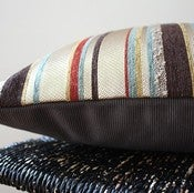 Image of WARM UNEVEN STRIPES Cushion Cover, Throw Pillow, 63 x 34 cm