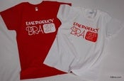 "Image of ""Emergency Bra Under Here"" Tshirt"