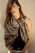 Image of Hand Loom Scarf - Grey Melange