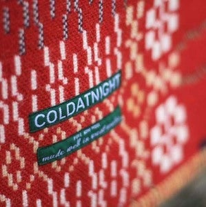 Image of coldatnight Welsh blanket in Red