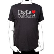 "Image of ""I Hella Love Oakland"" - Standard Fit Tee-Black"