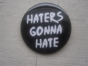 Image of Haters Gonna Hate Button