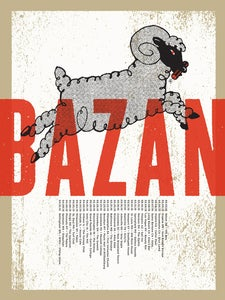 Image of Bazan: 2010 Tour Poster