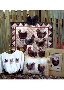 Image of Hens in the Yard quilt pattern