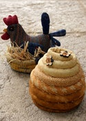 Image of Hen and Beehive Pincushion pattern