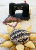 Image of Sewing Machine and Sunflower Pincushion patterns
