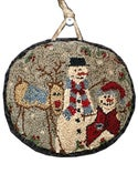 Image of Snowfriends punchneedle pattern