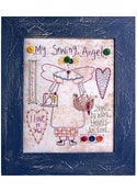 Image of My Sewing Angel framed stitchery pattern