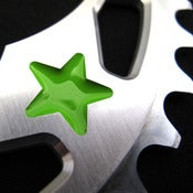 Image of Green stars - Silver chainring
