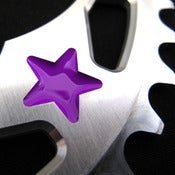 Image of Purple stars - Silver chainring