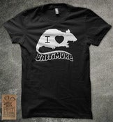 "Image of Black "" I rat baltimore"" shirt"