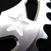 Image of White stars - Silver chainring