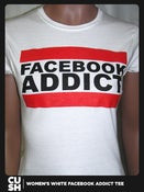 Image of Facebook Addict Womens (White)