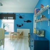 Image of Vinyl Wall Sticker Decal Art - Helicopters