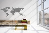 Image of Vinyl Wall Sticker Decal Art - World Map