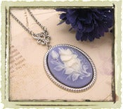 "Jewelry: ""Flower bouquet"" in Blue"