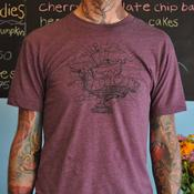 Image of Men's Official Pattycake T-shirt Heather Plum