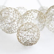 Image of silver bubble neckpiece