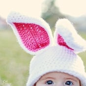Image of Bunny Rabbit hat crochet pattern